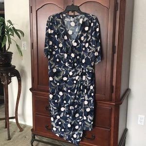 Banana Republic blue floral dress